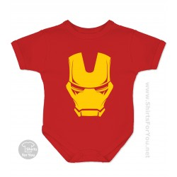 Iron Man Mask Baby Onesie