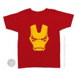 Iron Man Mask Kids T Shirt