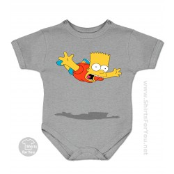Flying Bart Simpson Baby Onesie