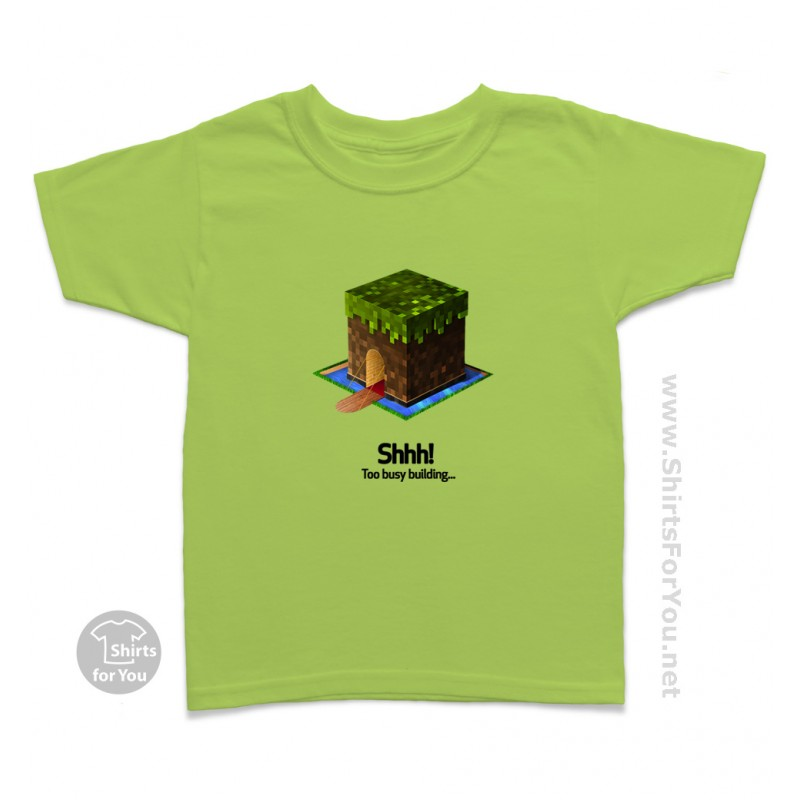 minecraft shhh kids t shirt