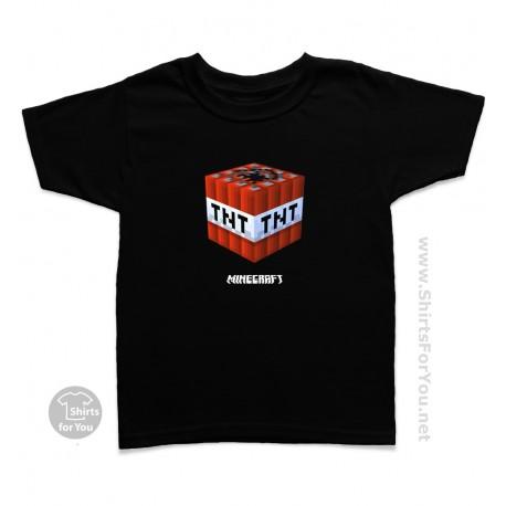 Minecraft TNT Kids T Shirt