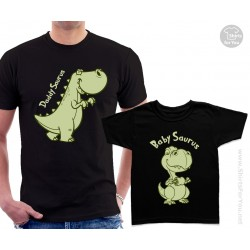Daddy Saurus and Baby Saurus Matching T-Shirts