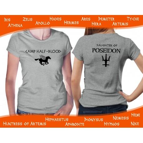 Camp Half-Blood Grey Womens T-Shirt