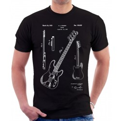Fender Bass Guitar Patent T-Shirt