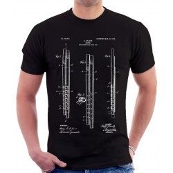 Flute Patent Print T Shirt