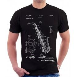 Saxophone Patent Print T Shirt