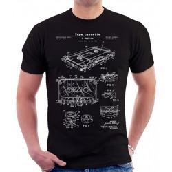 Tape Cassette Patent T Shirt