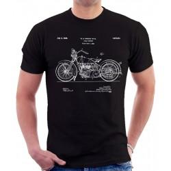 Harley Davidson 1925 Patent T Shirt