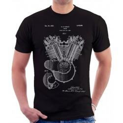 Harley Davidson Engine Patent T Shirt