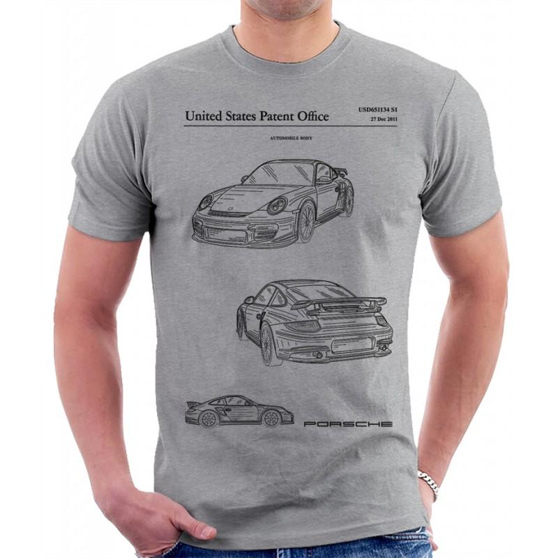 Porsche 911 Patent T Shirt