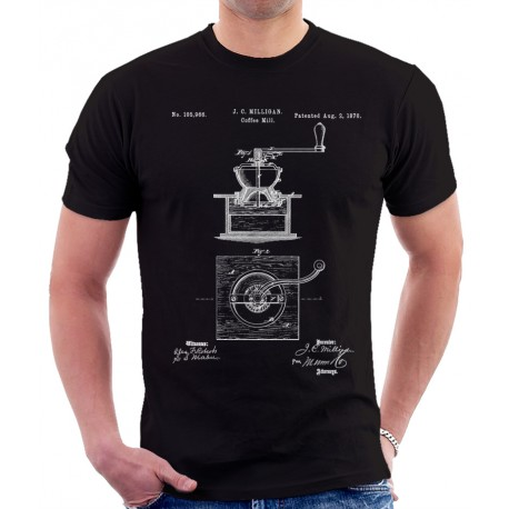 Coffee Mill Patent T Shirt