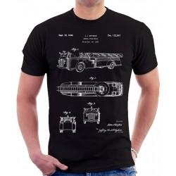 Fire Truck Patent T Shirt