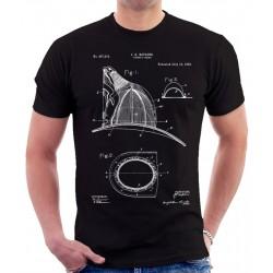 Firemans Helmet Patent T Shirt
