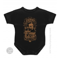 Johnny Cash I Walk The Line Baby Onesie