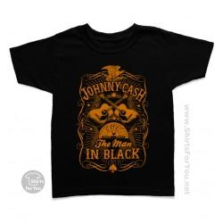 Johnny Cash The Man in Black Kids T-Shirt