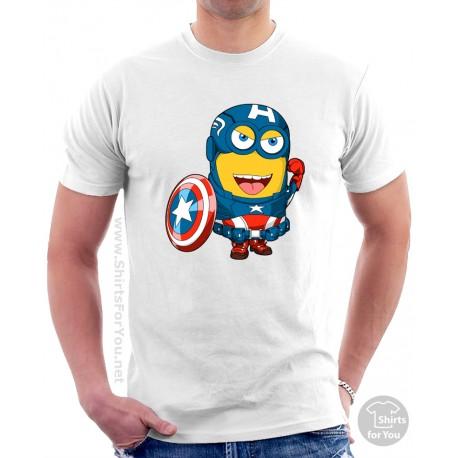 Captain America Minion T Shirt