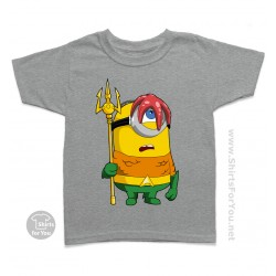 Aquaman Minion Kids T Shirt