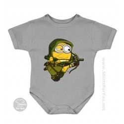 Green Arrow Minion Baby Onesie