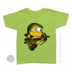 Green Arrow Minion Kids T-Shirt