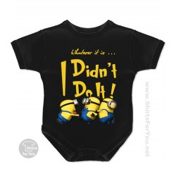 Minion I Didn't Do It Baby Onesie
