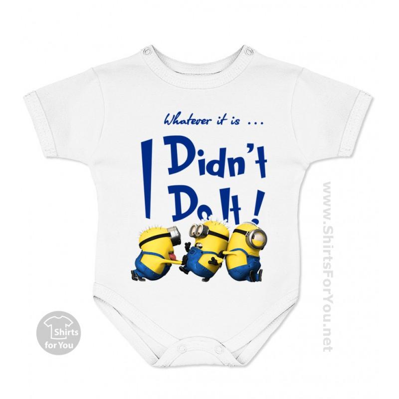 2b97f1a5e735 Minion I Didn t Do It Baby Onesie