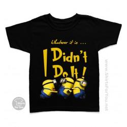 Minion I Didn't Do It Kids T-Shirt