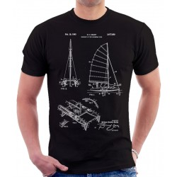 Catamaran Sailboat Patent T Shirt
