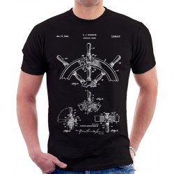 Steering Wheel Patent T Shirt
