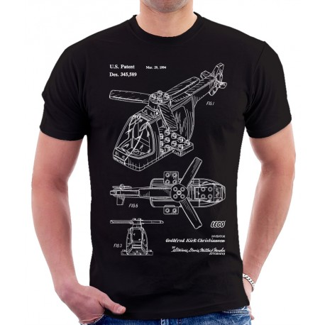 Lego Helicopter Patent T Shirt