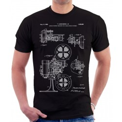 Movie Projector Patent T Shirt
