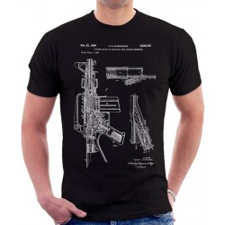 M-16 Rifle Patent T Shirt