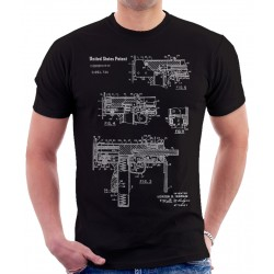 Mac 10 Uzi Patent T Shirt