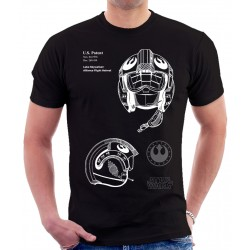 Star Wars Alliance Flight Helmet Patent T Shirt