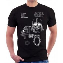 Star Wars Dart Vader Helmet Patent T Shirt