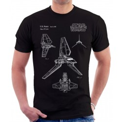 Star Wars Imperial Shuttle Patent T Shirt
