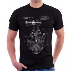 Star Wars Millenium Falcon Patent T Shirt