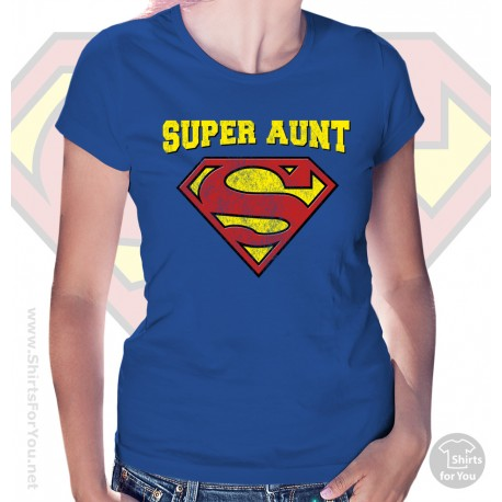 Superman Super Aunt  Womens T Shirt