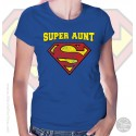 Superman Super Aunt  Womens T-Shirt