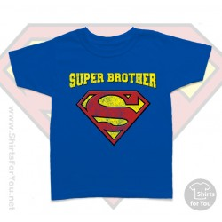 Superman Super Brother Kids T Shirt