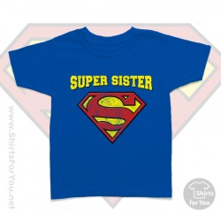 Superman Super Sister Kids T Shirt