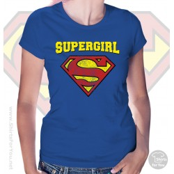 Superman Supergirl Womens T-Shirt