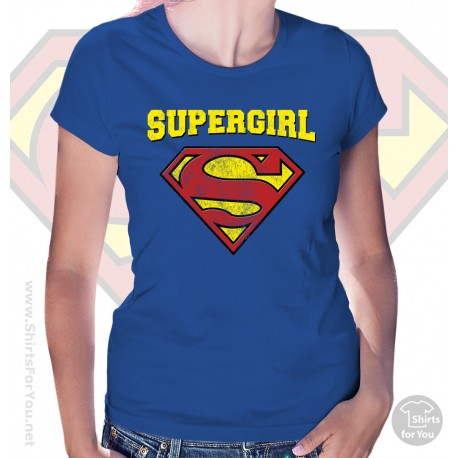 2e2b3973 Superman Supergirl Womens T-Shirt