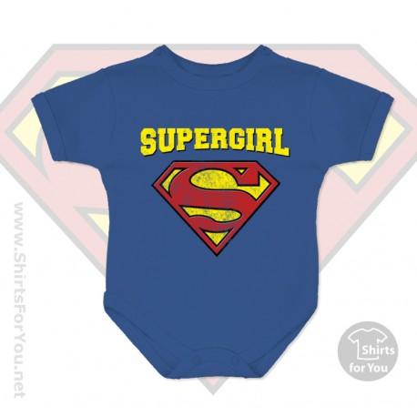 Superman Supergirl Baby Onesie
