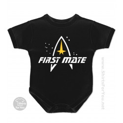 Star Trek First Mate Baby Onesie