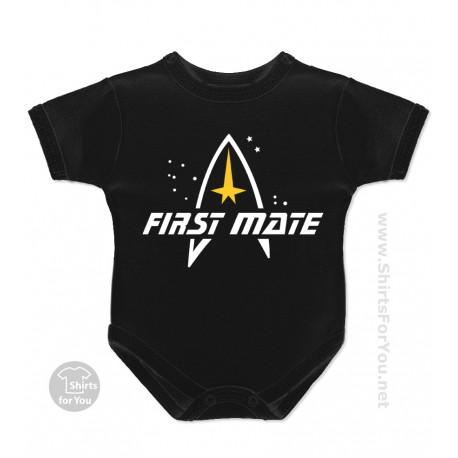 Star Trek First Mate Baby Onesie