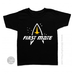 Star Trek First Mate Kids T Shirt