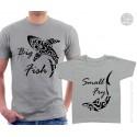 Big Fish and Small Fry Sharks Matching T-Shirts