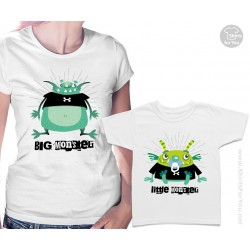 Big Monster and Little Monster Matching T Shirts