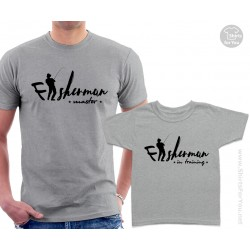 Fisherman Master and Fisherman in Training Matching T-Shirts