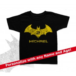 Batman Personalized Birthday Kids T Shirt